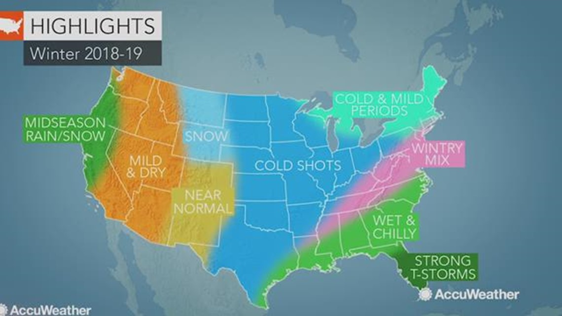 2018-2019 AccuWeather US Winter Forecast
