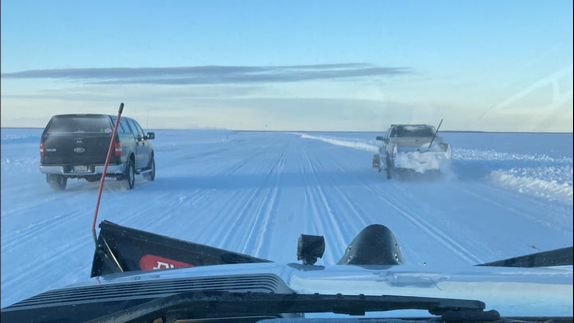 Ice road proves successful for Minnesota's Northwest Angle