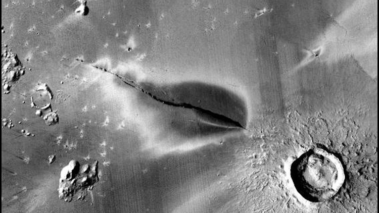 Mysterious Dark Deposit Found on Mars Could be Sign of Recent Volcanic Activity