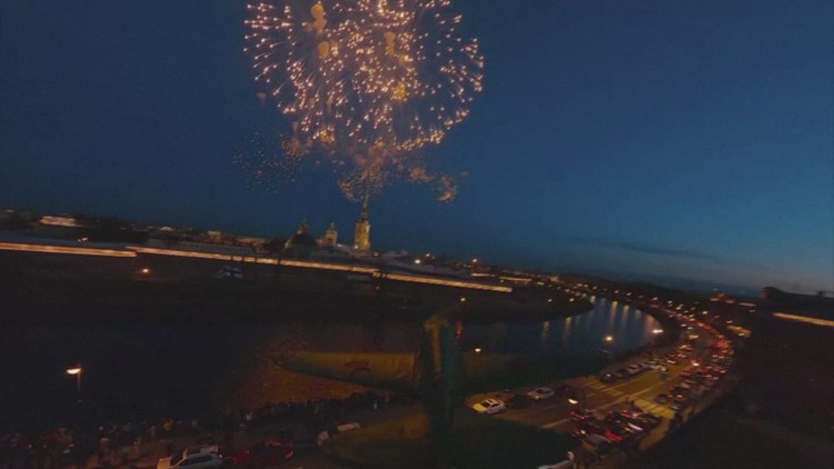 Firework Frenzy! Amazing Drone Footage Captures Fireworks in Russia!