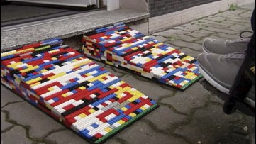 German grandma builds wheelchair ramps from Lego to help others