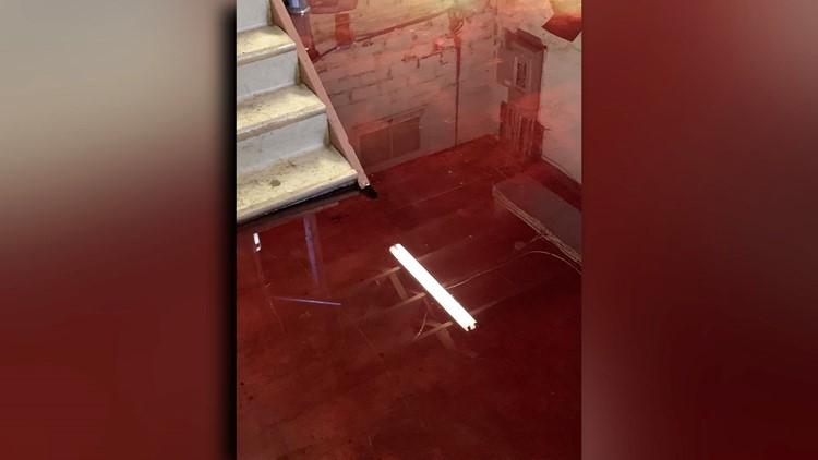 Meat locker blood in basement