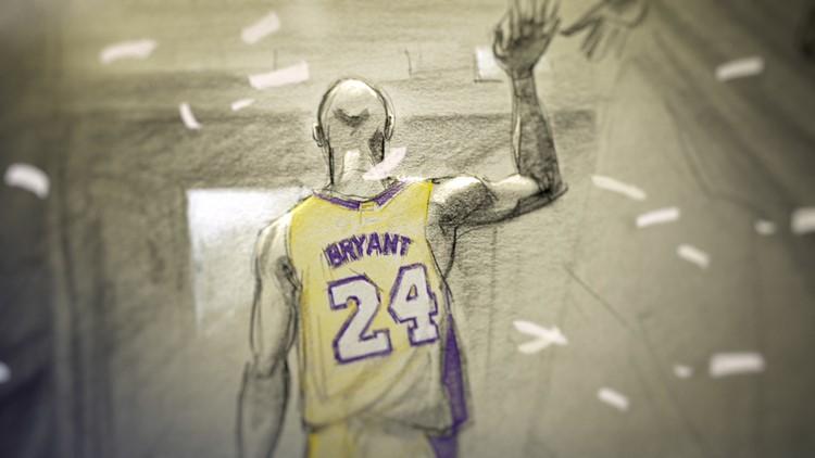 Kobe Bryant Dear Basketball walking off