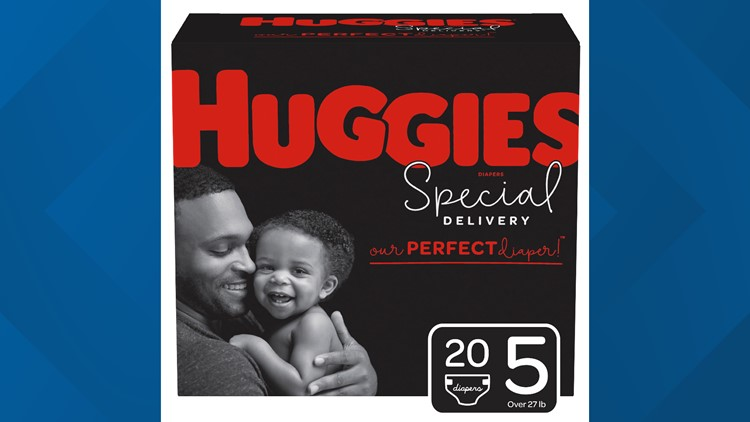 Huggies dads on packaging
