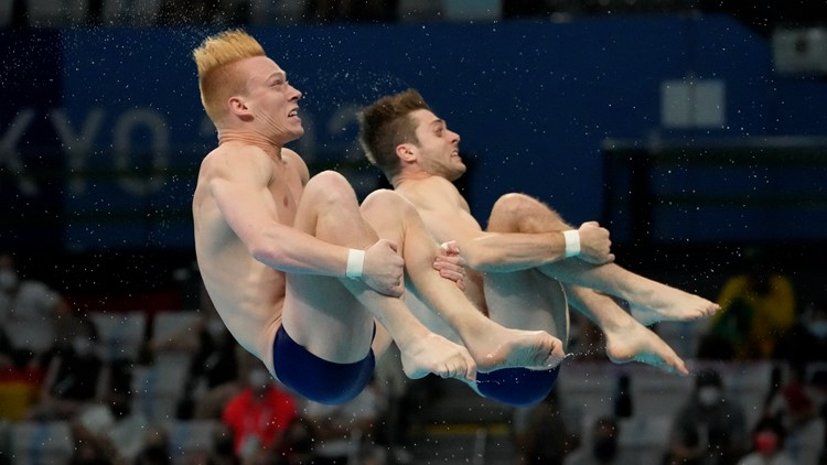 US wins silver in men's springboard synchronized diving