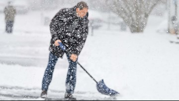 Avoid a heart attack while shoveling snow