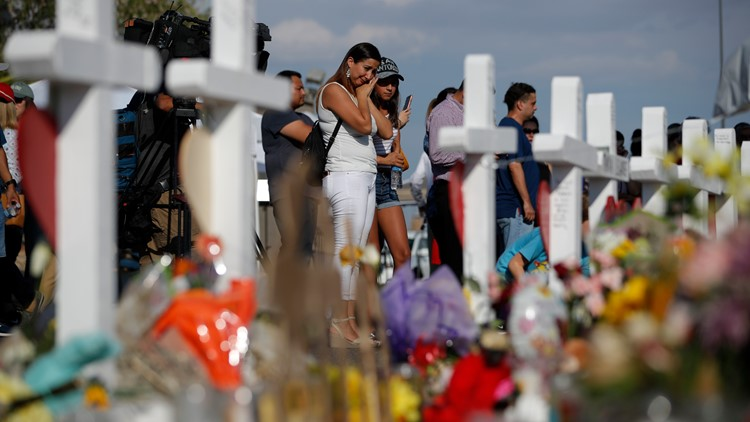Walmart Texas El Paso Shooting makeshift memorial
