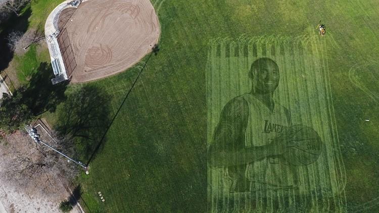 Kobe Bryant massive mural California