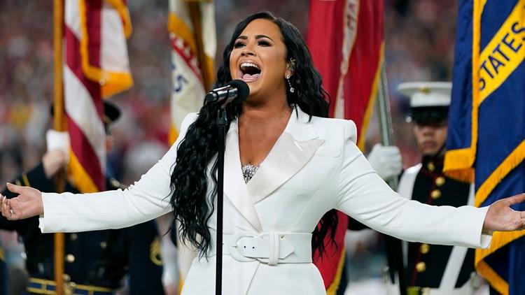 Demi Lovato anthem 49ers Chiefs Super Bowl Football