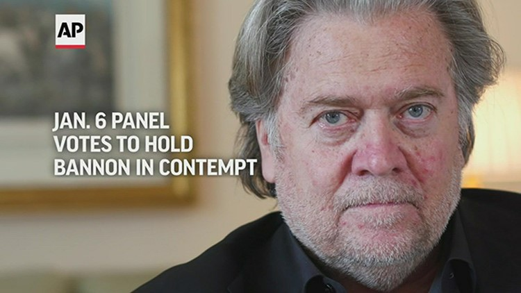 Steve Bannon held in contempt by Jan. 6 committee