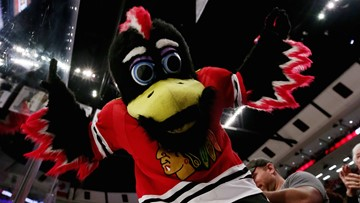 Chicago Blackhawks mascot Tommy Hawk fights fan in viral video