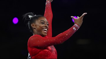 Biles sets record for most medals at gymnastics worlds