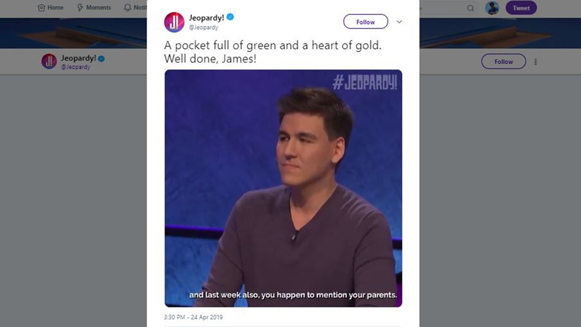 James Holzhauer wins 16th-straight 'Jeopardy!' match