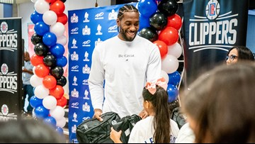 Kawhi Leonard, Clippers donate 1 million backpacks to L.A. school kids