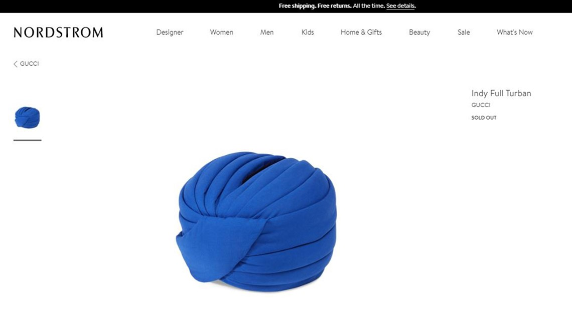 Gucci takes heat for $800 'Indy Turban'