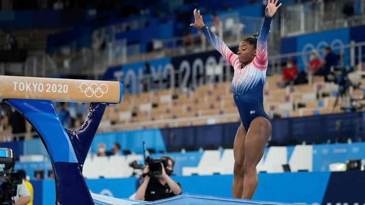 Simone Biles wins balance beam bronze in return to competition