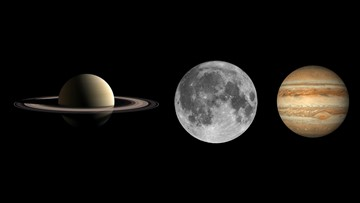Jupiter, Saturn, moon to line up in night sky this month