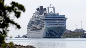 Cruise ship with 2 virus deaths docks in Florida