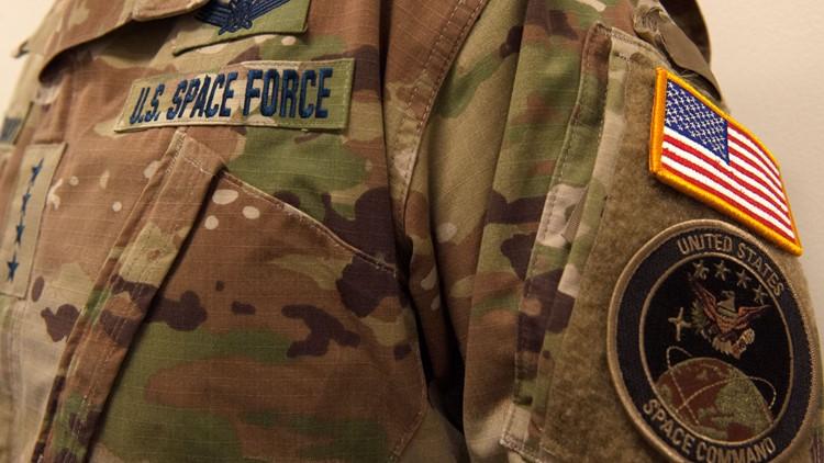 Space Force camo uniform