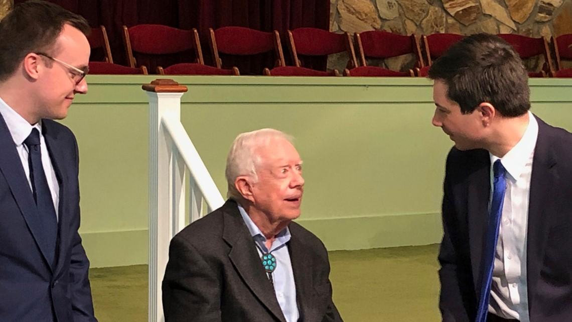Pete Buttigieg, husband attend Jimmy Carter's Sunday school class