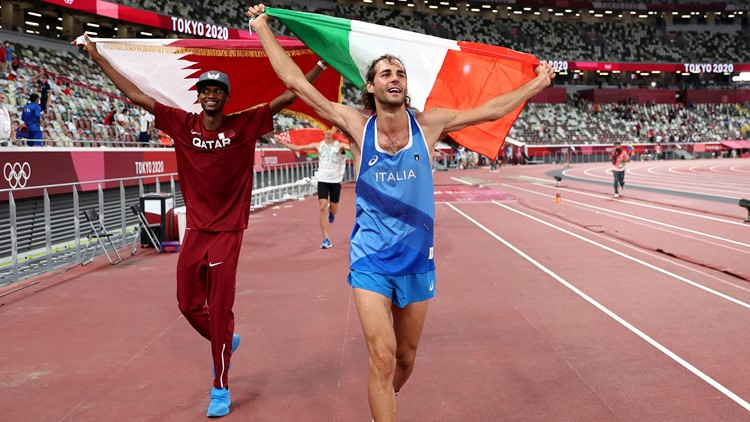 Olympic high-jumpers decide to split gold medal