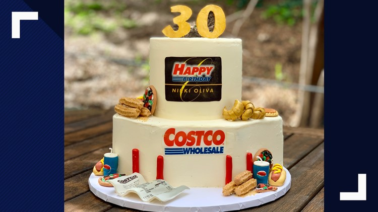 Strange Bakers Amazing Costco Birthday Cake Includes Samples Churros Personalised Birthday Cards Veneteletsinfo