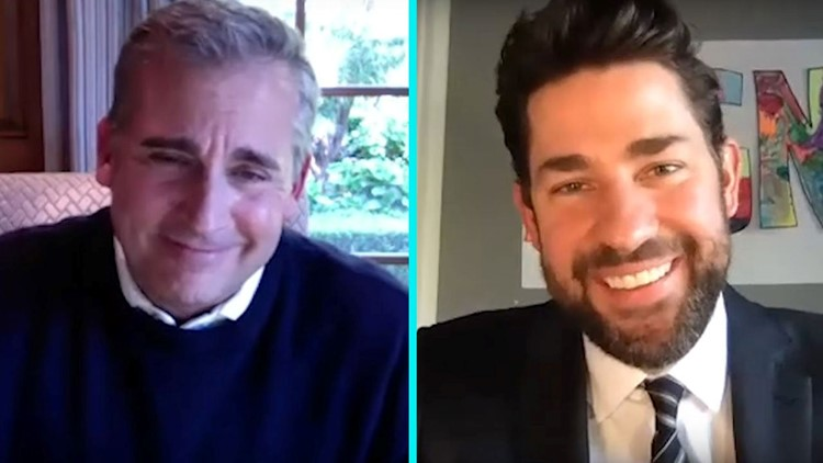 John Krasinski and Steve Carell Reflect on 15th Anniversary of 'The Office' -- Watch!