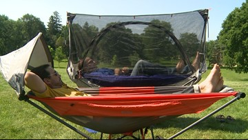 Minneapolis friends design new hammock that can be set up anywhere