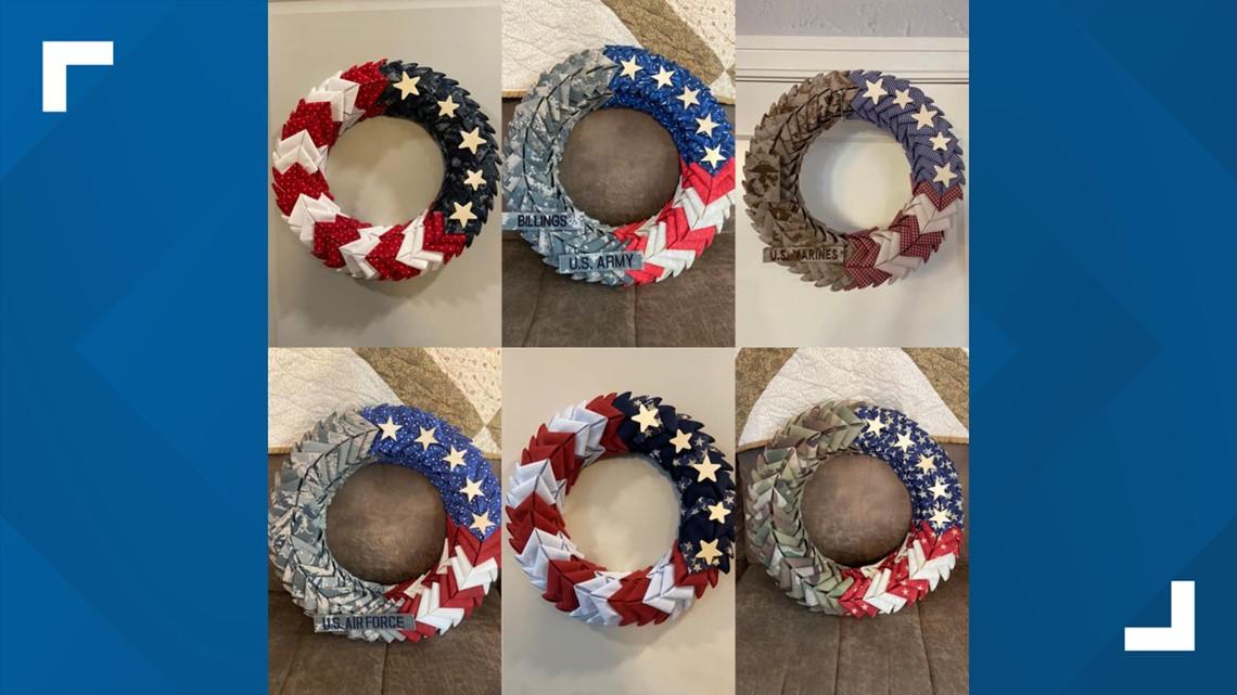 Military uniforms repurposed into wreaths by San Antonio ...