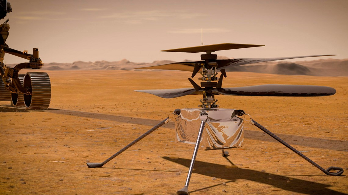 WATCH: NASA shared images of first successful controlled flight on Mars