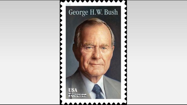 George H.W. Bush stamp
