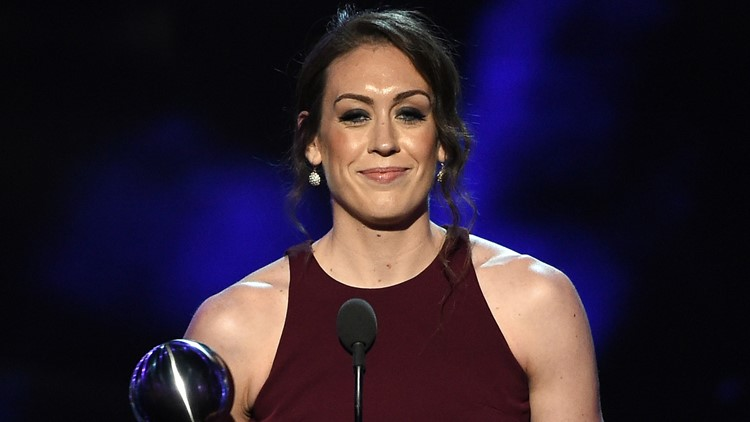 Storm's Breanna Stewart calls for equality for women at ESPYs