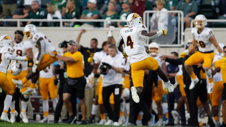 Arizona State edges No. 18 Michigan State Spartans 10-7 in wild last minute