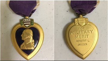 Can you help? Purple Heart medal found in donations at Missouri American Legion post
