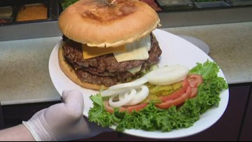 This burger is equal to 15 McDonald's quarter pounders