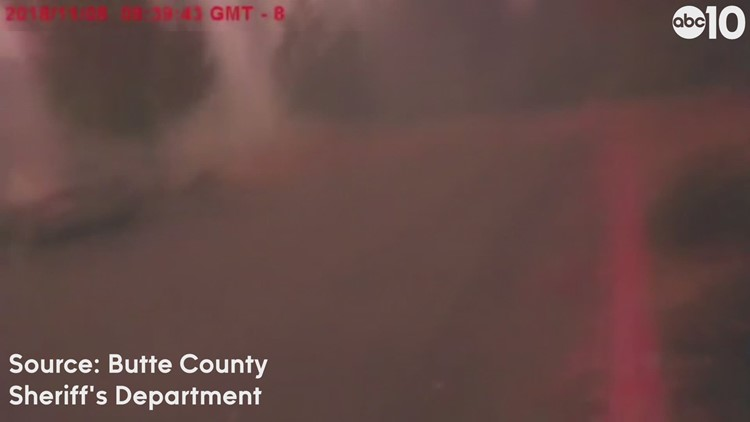 Body camera footage shows chaotic scene, massive flames during Camp Fire