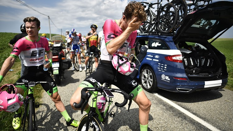 Tour de France riders inadvertently tear-gassed