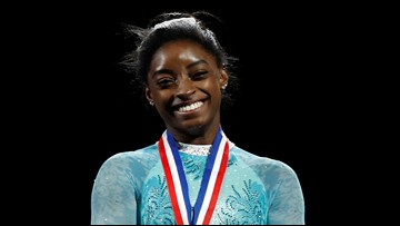 Simone Biles' leotard was shout-out to Larry Nassar's victims