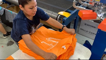 'It's an absolute movement'   With more than 71,000 orders to fill, there's no slowing down for company producing boy's UT shirt design