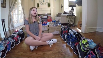 'Harvey Soles': 11-year-old Plano girl's quest to put shoes on Harvey victims' feet