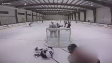 WATCH: Teen suspended from USA Hockey play after nasty attack during game