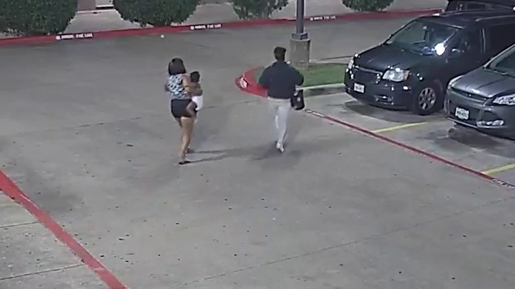 Video shows kidnapping of 20-month-old baby at Texas motel as mother rips off suspect vehicle plates