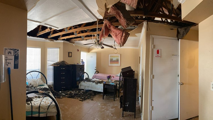 Domestic violence shelter in Texas asking for donations after pipes burst, ceiling caves in