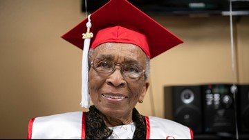 99-Year-Old WWII veteran gets birthday wish to walk across stage at her alma mater's commencement