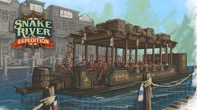 Cedar Point Snake River Expedition new ride for 2020