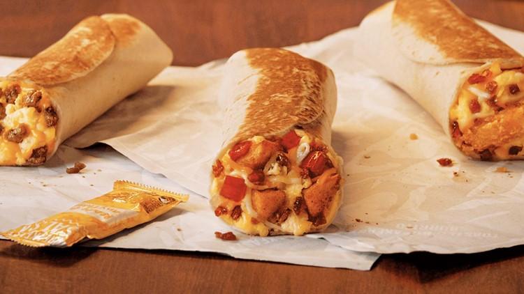 Taco Bell giving away free breakfast burritos Thursday
