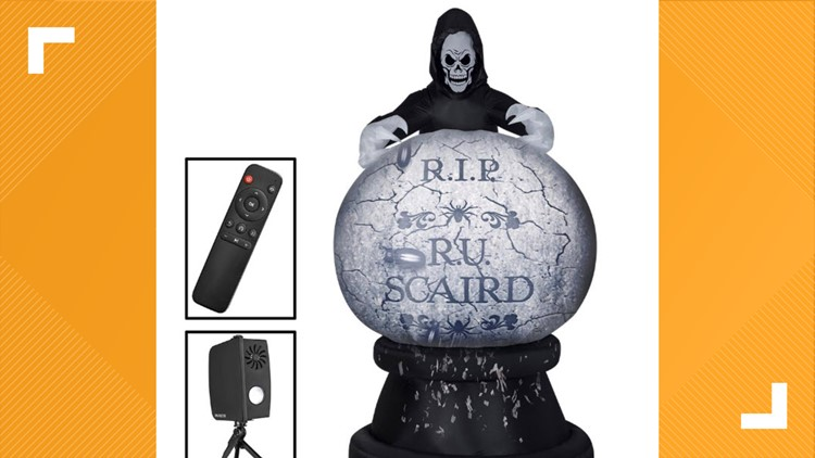Halloween inflatable snow globe