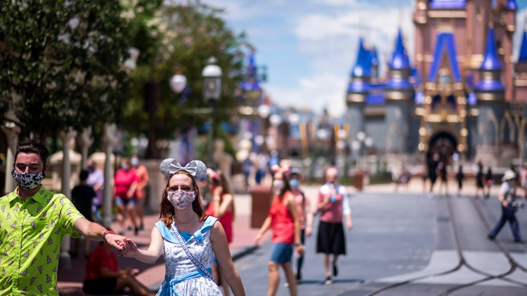 Disney World makes masks optional in outdoor common spaces