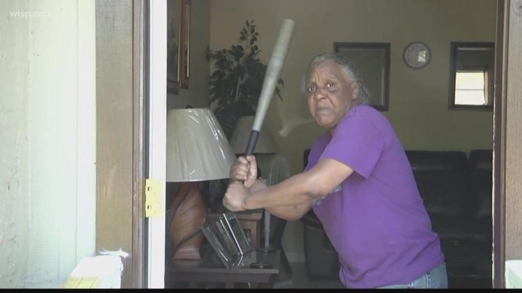 Woman, 65, slugs half-naked attacker with bat