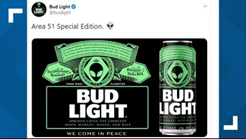 Bud Light may beam down beer for Area 51 aliens